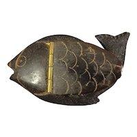 Gutta Percha Fish Box - Snuff Box