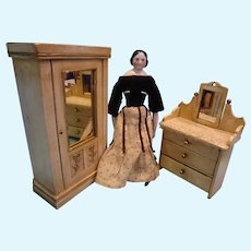 Doll Size Dresser and Armoire