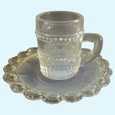 Miniature Glass Cup and Saucer