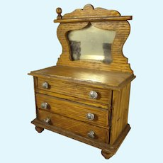 Doll House Oak Dresser with Mirror