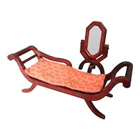 Lovely Doll's Recamier and Cheval Mirror