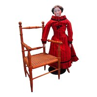 Lovely French Faux Bamboo Doll's Chair