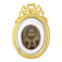 Lovely picture of a Young Child in Fancy Gilt Frame