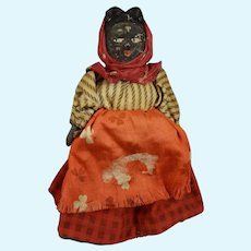 """4 1/4"""" Black Doll with Scarf"""