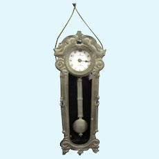 Soft Metal Doll House Clock with Pendulum