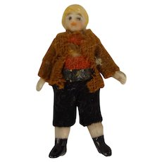 "2"" All Bisque Doll in Original Costume"