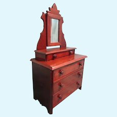Doll Size Dresser with Mirror