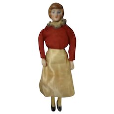 "5"" Bisque Doll House Lady with Long Slim Legs"