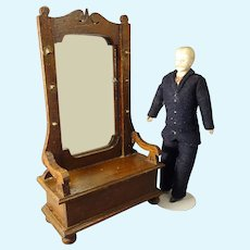 Hall Seat with Hat Rack for Doll House