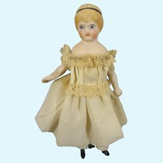 "4 1/2"" Bisque Doll House Girl with Head Band"