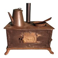Antique German Metal Stove for Doll House