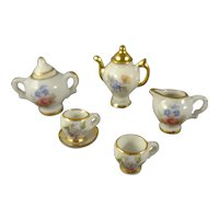 Miniature Limoge Tea Set for Doll House Display