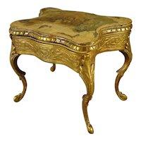 Dore Bronze and Hand Painted Lift Top Vanity