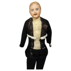 "7 1/2"" Doll House Gentleman with Moustache in Tuxedo"