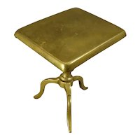 Miniature Brass Tilt Top Table