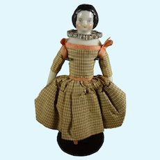 """4 1.2"""" China Doll House Doll with Rare Boots with Tassels"""