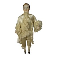 "8"" Bisque Doll House Man in Marquis Costume"