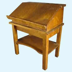 Miniature Wooden Desk, Podium or Lectern in Doll Scale