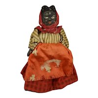 "4 1/4"" Black Doll with Scarf"