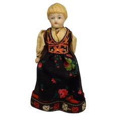 """6"""" Bisque Doll with Blonde Sculpted Hair"""