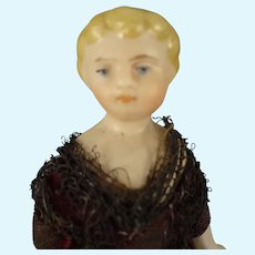 "5"" Doll House Lady with Blonde Sculpted Hair"