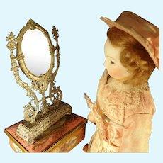 Soft Metal Vanity  Mirror for Fashion Doll