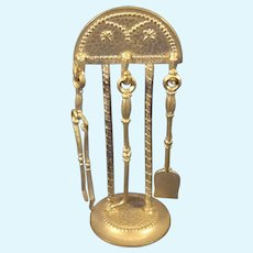 Soft Metal Fire Tools and Stand for Doll House
