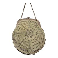 SALE French Velvet and Beaded Purse for French Fashion