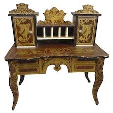 Antique Miniature Biedermeier Lady's Desk