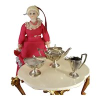 Sterling Miniature Tea Set in George III Style
