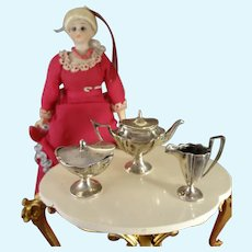 Sterling Miniature Tea Set in George III Style