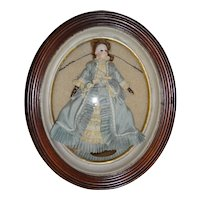 Antique Oval Shadow Box for French Fashion