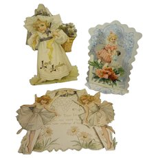 Group of Three Antique Valentine Cards