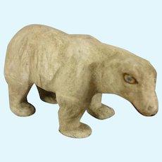 Miniature Polar Bear with a Glaring Look