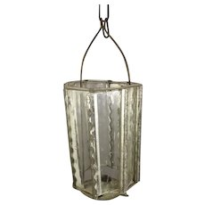 Glass and Tin Lantern for Doll Display