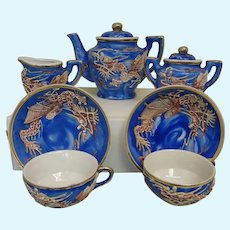 German Porcelain Child's Tea Set Dragons