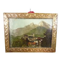 Framed Doll House Picture of Bayern Germany