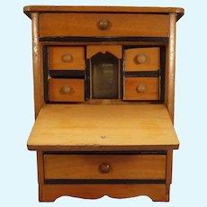 Miniature Doll House Drop Front Desk