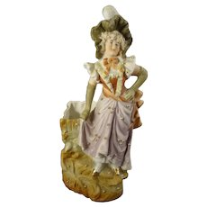 German Bisque Figural Vase