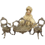 Miniature Sterling Parlor Set for Doll House