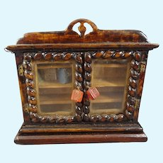 Miniature Wooden Bookcase with Books