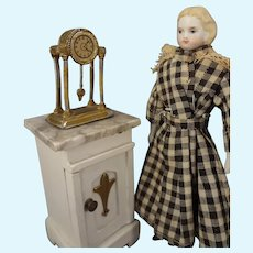 "5 1/4"" Parian Doll House Doll with Flat Shoes"
