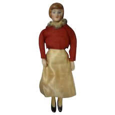 """5"""" Bisque Doll House Lady with Long Slim Legs"""