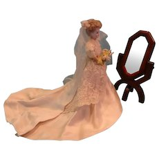 Doll Size Cheval Mirror and Recamier Chaise