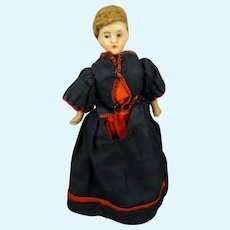 """5"""" Bisque Doll House Doll Lady"""
