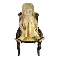 """5 1/2"""" All Bisque Doll with Green Socks"""