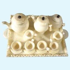Miniature Coffee and Tea on Tray