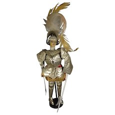 """6 1/2"""" Knight in Suit of Armor Artist Made"""