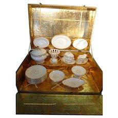 Child's Porcelain Dinner Service in Original Box