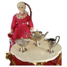 Sterling Mini Tea Set in George III Style
